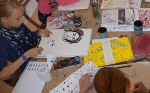 Der Kindermalkurs von Susanne Meister in ihrem Atelier in Leipzig
