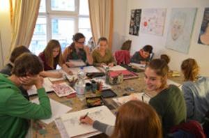 Kunstkurs Susanne Meister im Atelier in Leipzig