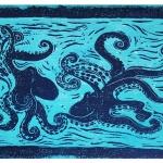 Drucke der Künstlerin Susanne Meister: Meeresgetier - Tintenfische