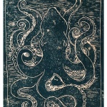 Druck Tiere Oktopus Tintenfisch im Meer von Künstlerin Susanne Meister